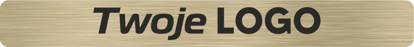 Płytka PG złota z grawerem logo